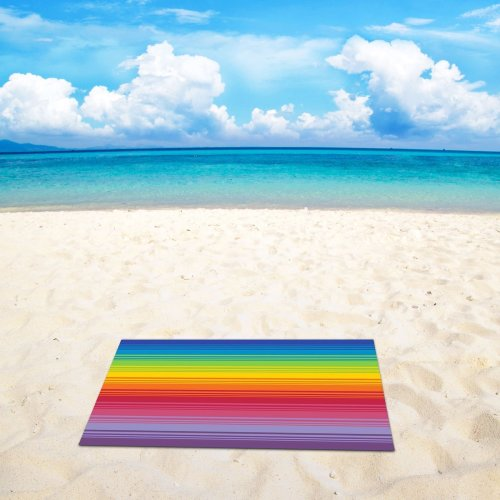 Rainbow Microfibre Beach Towel