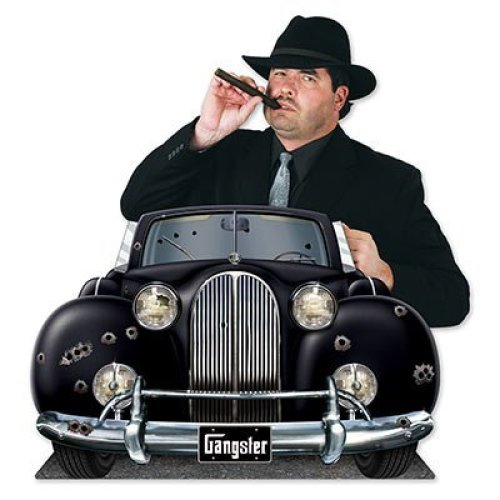 Beistle Gangster Car Photo Property 3 3 4 by 24 1 2 Inch Multicolor
