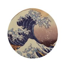 Art Illustration Mouse Pad Rubber Circular Gaming Mouse Mat in 20 CM -A4