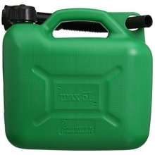 Silverline Plastic Fuel Can 5ltr Green - 847074 5 -  plastic fuel can silverline green 847074 5 5ltr