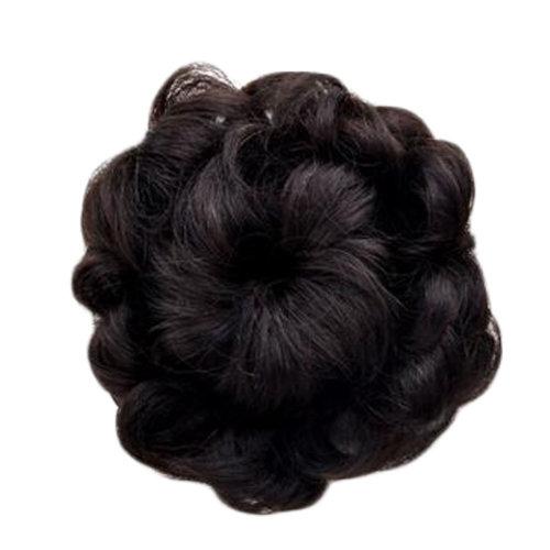 Beautiful Human Hair Bun Extension Fancy Hair Bun Donut For Women, Black