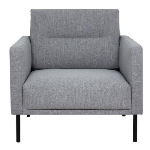 Larvik Armchair - Grey, Black Legs