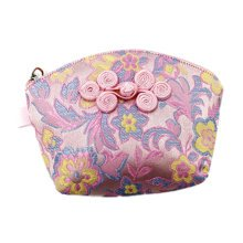 Set of 2 Traditonal Chinese Embroidered Jewelry Coin Pouch Bag Wallet Purses   G