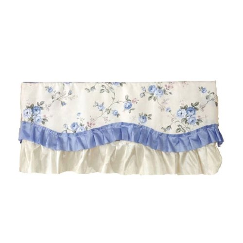 Hanging Air Conditioner Anti Dust Cover BLUE Flowers(86x23x40cm)