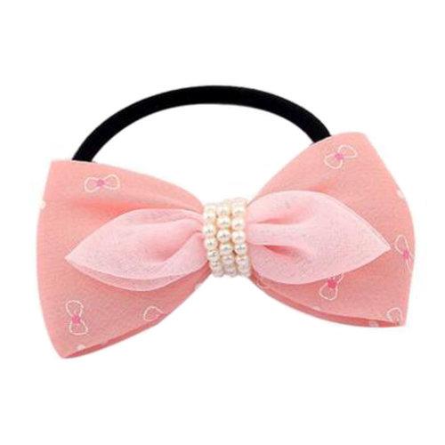 2PCS Kids Cute Elastics Hair Ties Ponytail Holder Accessories Girls Hairdressing, H