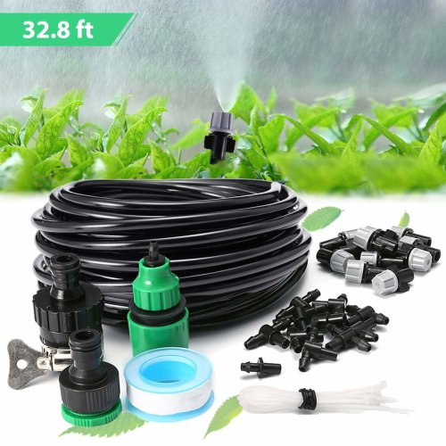 KING DO WAY Micro Flow Drip Watering Irrigation Adjustable Misting Kits System Self Plant Garden Hose Automatic Watering Kits (10m)