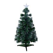 Homcom 3ft Optical Fiber Artificial Christmas Tree Colorful Led (3ft 90cm)