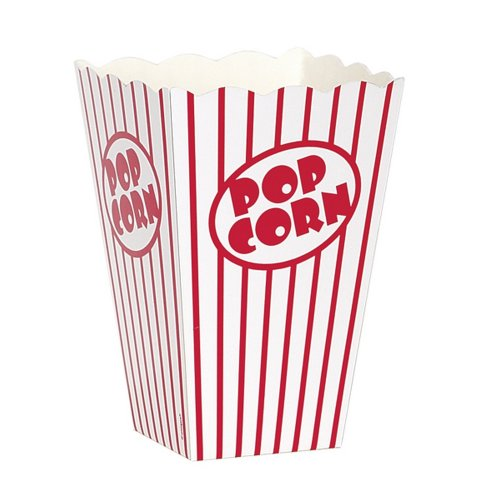 Unique Party Cardboard Popcorn Boxes (Pack Of 10)