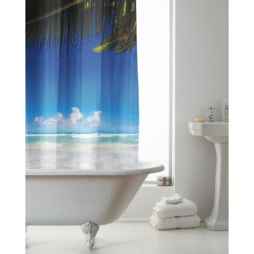 Country Club Hookless Shower Curtain, Beach