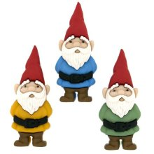 Garden Gnomes - Novelty Craft Buttons & Embellishments by Dress It Up