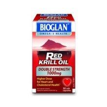 Bioglan Red Krill Oil 1000mg Double Strength 30 Capsules