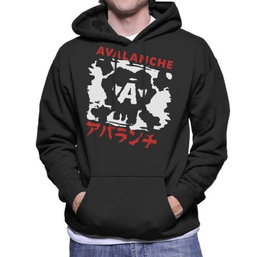 Avalanche Graffiti Final Fantasy VII Men's Hooded Sweatshirt