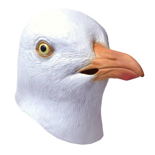 Seagull Overhead Animal Mask -  mask seagull fancy dress rubber adult accessory animals nature full overhead bird FANCY DRESS FACE MASK SEAGULL BIRD