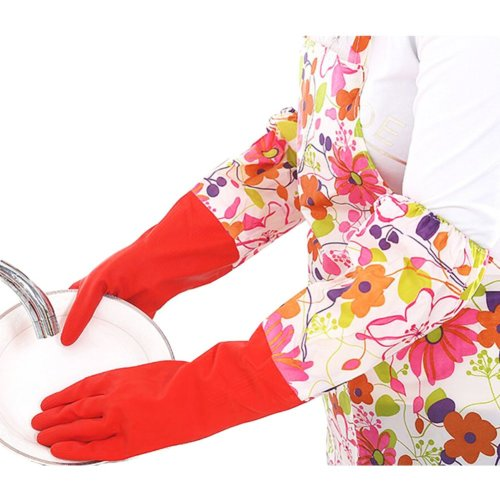 Waterproof Gloves Velvet Warm Cleaning Gloves Dish Washing Gloves -11