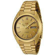 Seiko SNXS80K 5 Men's Automatic Gold Watch
