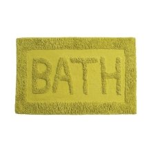 Cotton Bath Mat - Lime Green