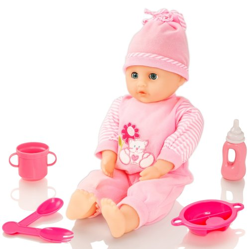 Molly Dolly Sweet Sounds Talking Baby Doll & Accessories - Girl