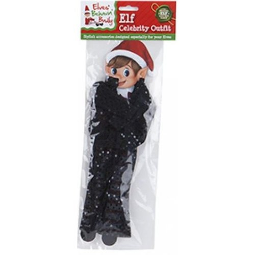 Elves Behavin Badly - Elf Sequin Celebrity Outfit - Black