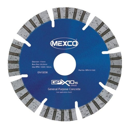 Mexco GPX15 115mm General Purpose Concrete Diamond Blade