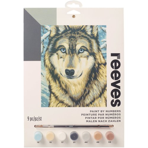 """Junior Paint By Number Kit 9""""X12""""-Wolf 2"""