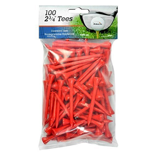 INTECH Golf Tee 2 3/4 100 Pack (Red)