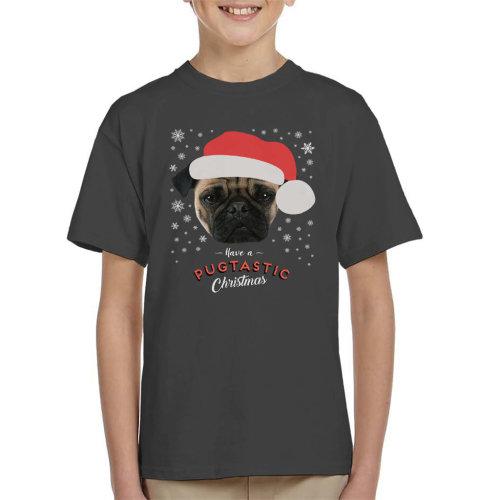 Have A Pugtastic Christmas Pug Dog Kid's T-Shirt