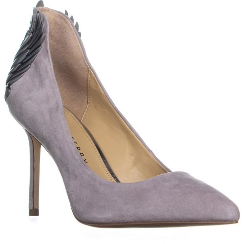 Katy Perry The Starling Pointed Toe Classic Heels, Grey, 3 UK