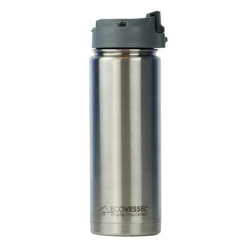 Ecovessel Perk 600ml Hot Cold Drinks Coffee & Tea Travel Mug Black Shadow