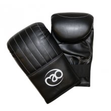 Medium Synthetic Leather Mitts -  mitt bag fitness mad boxing synthetic boxingmad pvc closure pro quality medium black leather