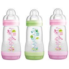 Mam Anti-colic 260ml Bottle - 3pk Girl