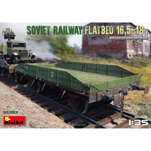 MIN35303 - Miniart 1:35 - Soviet Railway Flatbed 16.5-18t
