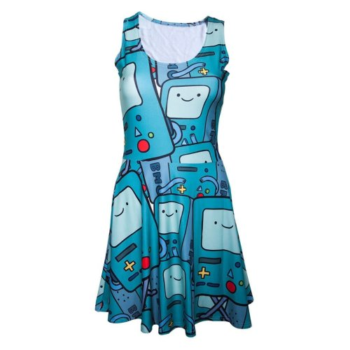 Women's Adventure Time Beemo All Over Print Dress