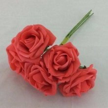 Artificial Colourfast Rose Bud Bunch