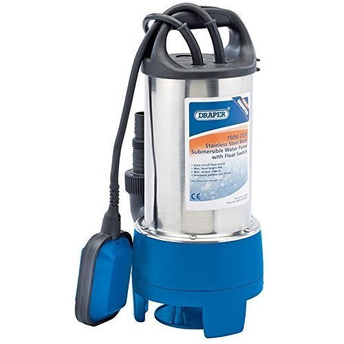 208 L/min Sub Pump Dirty Water - 230v Draper 750w Steel 208lmin Submersible -  dirty water 230v pump draper 750w steel 208lmin submersible stainless