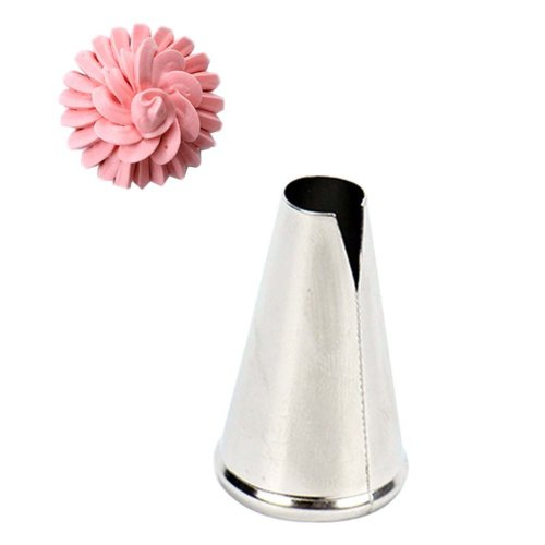 Fashion Household Cake Decorating Tips Stainless Steel Pastry Tube, 5 pieces