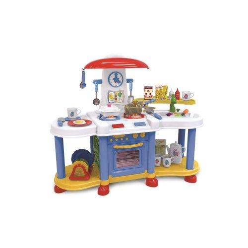 Vinsani Blue  Little Kitchen Food Cooking Gas Oven Appliances Toy Pretend Play Set