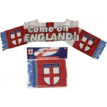 17x150cm Polyester Satin England Design Scarf W/tassels -  england football supporters scarf banner 150cm x 17cm sport fan