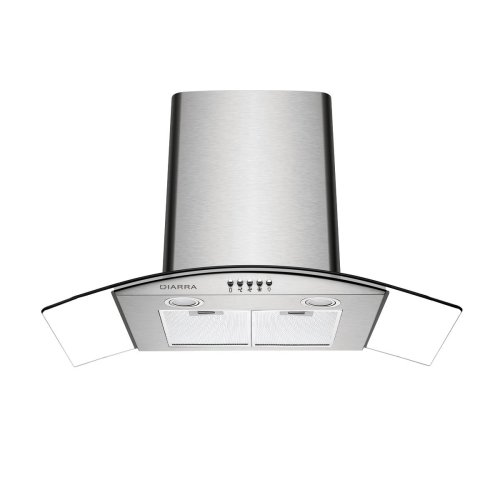 Ciarra 90cm Curved Glass Stainless Steel Chimney Cooker Hood
