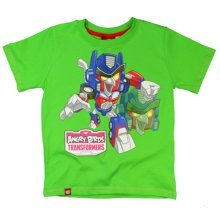 Angry Birds Transformers T Shirt - Green