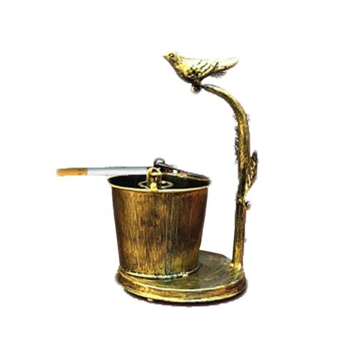 Special Design Ashtray Smoke Collectible Tribal Decoration-Gold