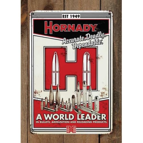 Hornady Vintage Tin Sign (HORN-99101)