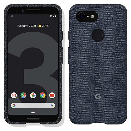 Official Google Pixel 3 Fabric Case Cover - Indigo (GA00488)