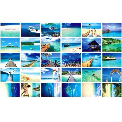 30 PCS 1 Set Collectible World's Beautiful Postcards, Famous Maldives