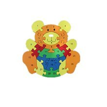 Puzzle Wooden Blocks Toys For Toddlers Childrens Gift Of Ages 2-7(bear B)