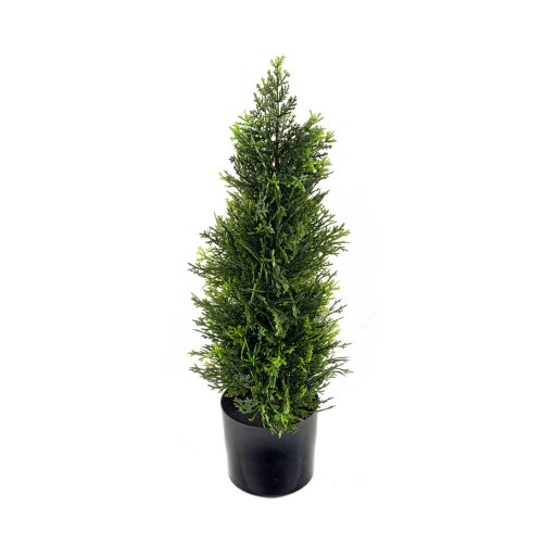Cedar Topiary Plant Tree 58cm Realistic Foliage Potted Indoor Outdoor