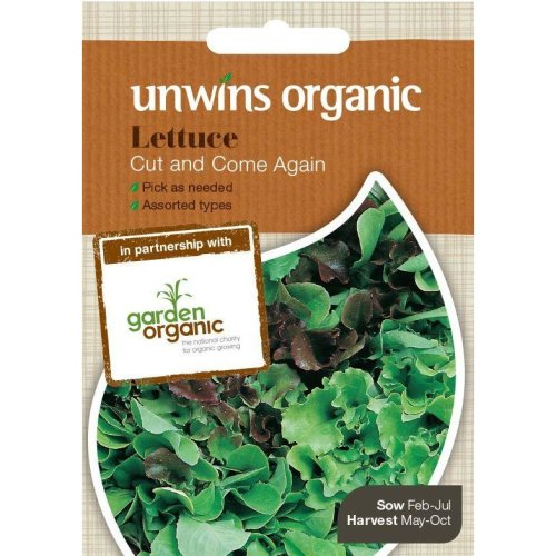 Unwins Pictorial Packet - Lettuce Cut And Come Again (Organic) - 1000 Seeds
