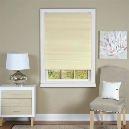 Honeycomb Cellular Alabaster Pleated Cordless Shade 33x64