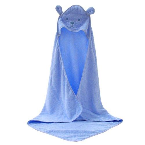 Baby Soft Cotton Breathable Bath Towel Kids Bathcloth Cloak Bathrobe 0-7 Years(Blue)