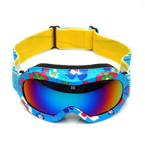 Print Goggles Cute Goggles for Kid Snowboard/Ski/Rollerskate Goggles Blue
