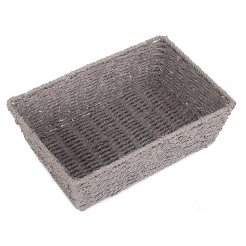 Medium Grey Paper Rope Serving Tray